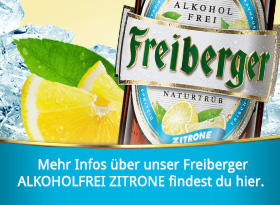 Freiberger Alkoholfrei mit Zitrone